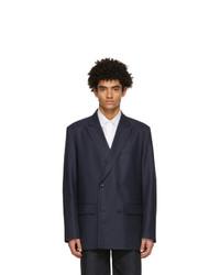 Valentino Navy Wool Vltn Times Blazer