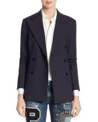 Polo Ralph Lauren Park Avenue Double Breasted Wool Blazer