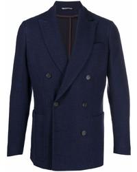 Canali Wool Jersey Knit Blazer