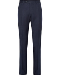 Canali Blue Venezia Slim Fit Puppytooth Wool Suit Trousers
