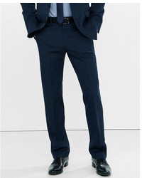 Express Classic Navy Wool Blend Twill Suit Pant