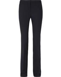 Alexander McQueen De Poudre Wool Straight Leg Pants