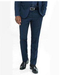 Express Extra Slim Navy Wool Blend Twill Suit Pant