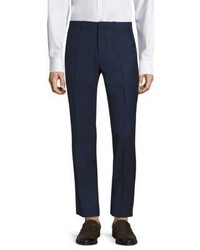 Theory Jake Slim Fit Grid Glenn Wool Suit Pants