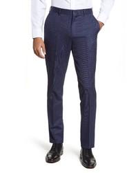 Nordstrom Men's Shop Nordstrom Solid Stretch Wool Dress Pants