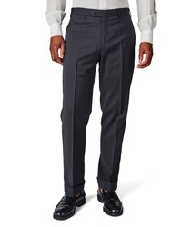 Zanella Parker Solid Stretch Wool Trousers
