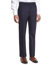 Ralph Lauren Slim Fit Fresco Wool Trousers Navy