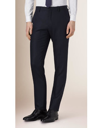 Burberry Slim Fit Travel Tailoring Wool Trousers