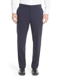Hart Schaffner Marx Solid Stretch Wool Trousers