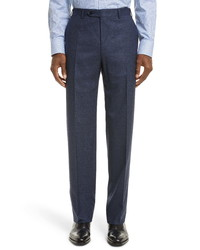 Canali Solid Wool Trousers