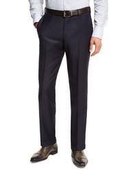 Ermenegildo Zegna Trofeo Wool Flat Front Trousers Navy