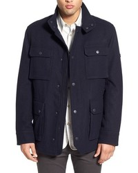 Navy Wool Field Jacket