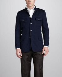 Hugo Boss Twill Field Jacket Blue