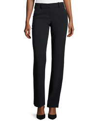 Giorgio Armani Front Zip Slight Flare Pants Navy