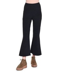 Stella McCartney Strong Lines Flare Leg Cropped Pants Ink