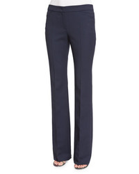 Escada Teneda Flare Leg Trousers Midnight Blue