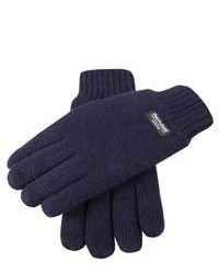 Dents Plain Knitted Gloves Navy