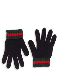 Gucci Kids Wool Web Gloves