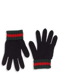 Gucci Kids Wool Web Gloves