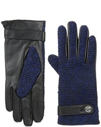 Calvin Klein Lurex Tweed Leather Glove