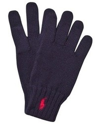 Ralph Lauren Navy Branded Gloves