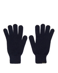 Paul Smith Navy Cashmere Gloves