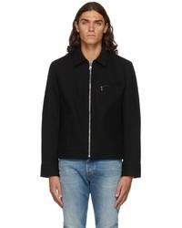 Schott Navy Wool Mechanics Jacket