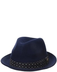 Ben Sherman Wool Felt Pinched Front With Porkpie Brim
