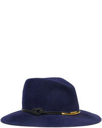 Bianca felt porkpie hat navy medium 87284