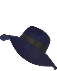 River Island Navy Oversized Fedora Hat