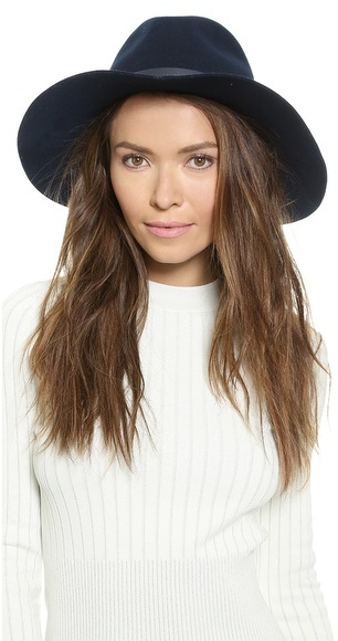 cd7a4115742eb ... Navy Wool Hats Rag   Bone Wide Brim Fedora ...