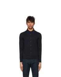 Loro Piana Navy Wool Empire Shirt