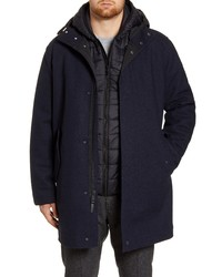 Cole Haan 3 In 1 Insulated Bonded Tweed Parka