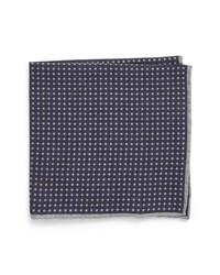 Eleventy Dot Wool Cotton Pocket Square