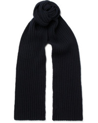 A.P.C. Ribbed Wool And Cashmere Blend Scarf