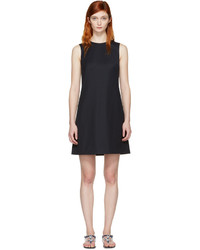 Dolce and gabbana navy wool shift dress medium 1196114