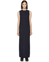 Harmony Navy Wool Crepe Shift Rita Dress