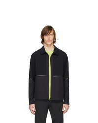 Z Zegna Navy Sport Zip Up Jacket
