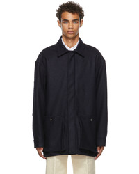 UNIFORME Patched Wool Overshirt