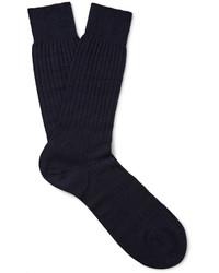 Pantherella Laburnum Ribbed Merino Wool Blend Socks