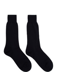 Ermenegildo Zegna Navy Extrafine Wool Socks