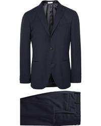 Boglioli Blue Dover Slim Fit Virgin Wool Suit