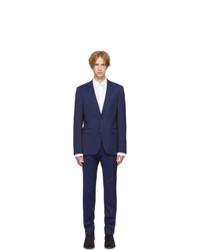 Hugo Blue Virgin Wool Astianhets Suit