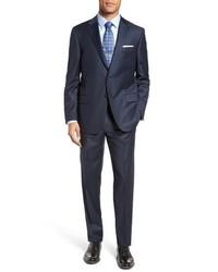 Hickey Freeman Classic B Fit Solid Loro Piana Wool Suit