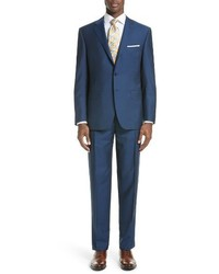 Canali Classic Fit Solid Wool Mohair Suit