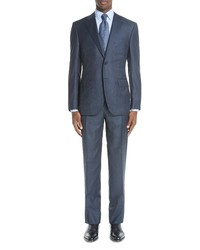 Canali Classic Fit Stripe Wool Suit