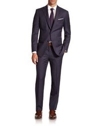 Saks Fifth Avenue Collection By Samuelsohn Tonal Plaid Wool Suit