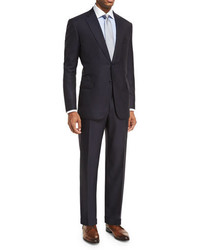 Brioni Essential Virgin Wool Two Piece Suit Navy