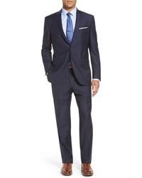 Flynn classic fit stripe wool suit medium 842244