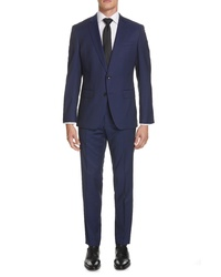 BOSS Huge Fit Solid Wool Suit